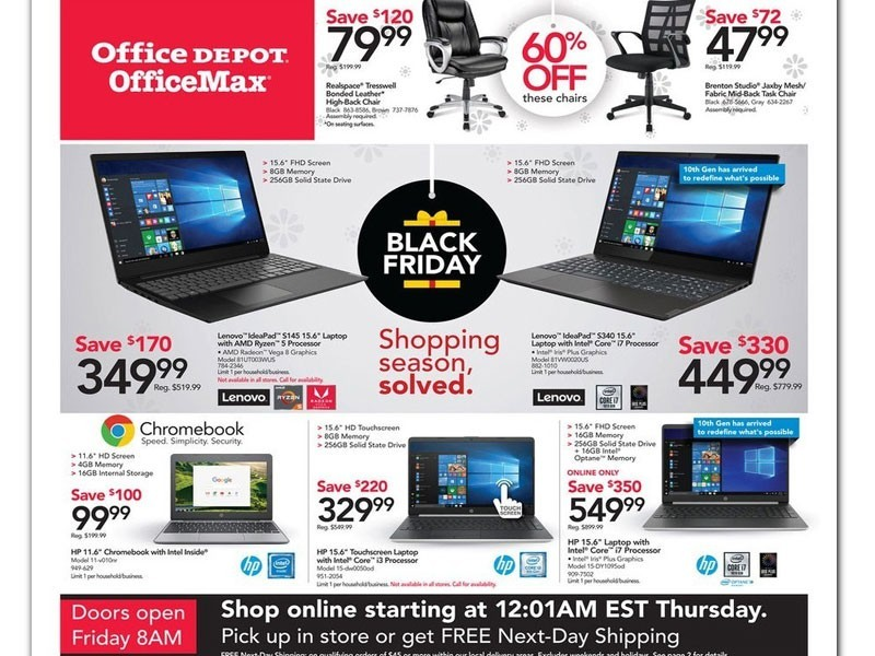 Office Depot Black Friday Ad 2019