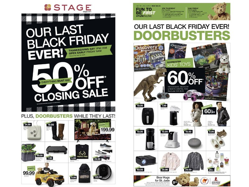 Stage Black Friday Ad 2019