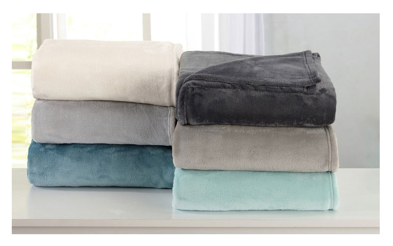 Great Bay Home Plush Warm Solid Lightweight Bed Blanket