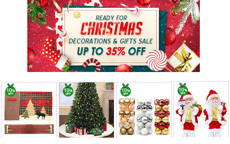 Ready for Christmas! 10% Off on Decorations & Gifts