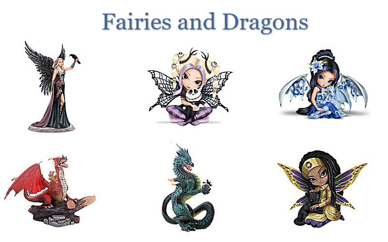 Hamilton Collection Fairies & Dragons Starting from $29.99 Only