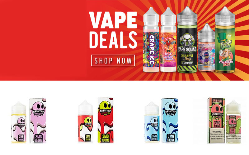 Shop Online Top Brand Premium E-Liquids at Discount Prices