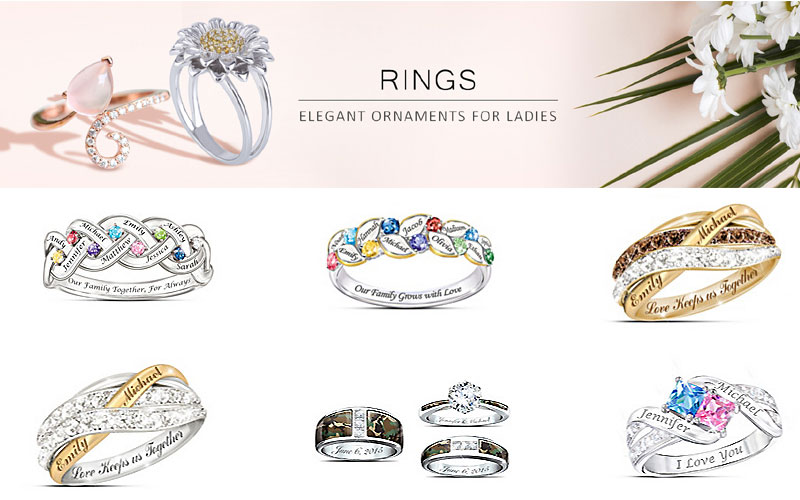 Shop Bradford Exchange Diamond, Engagement & Birthstones Rings