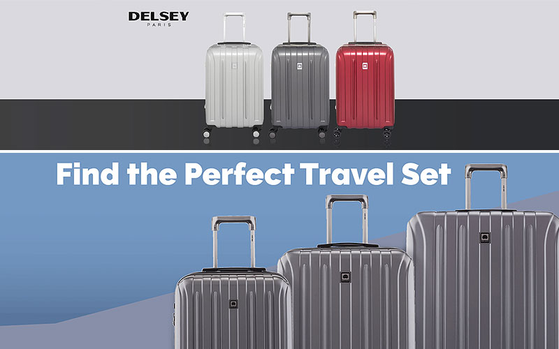 Up to 70% Off on Delsey Paris Luggage Set