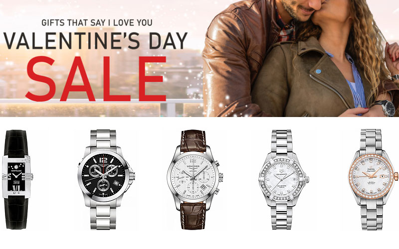 Valentine's Day Sale! Up to 75% Off on Top Brand Watches