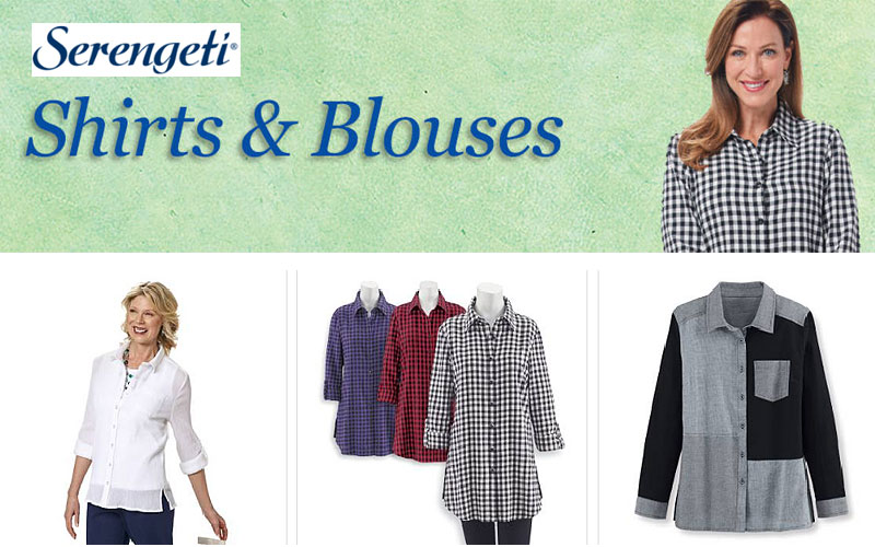 Women's Top Sale! Up to 60% Off on Tunic, Shirts & Blouses