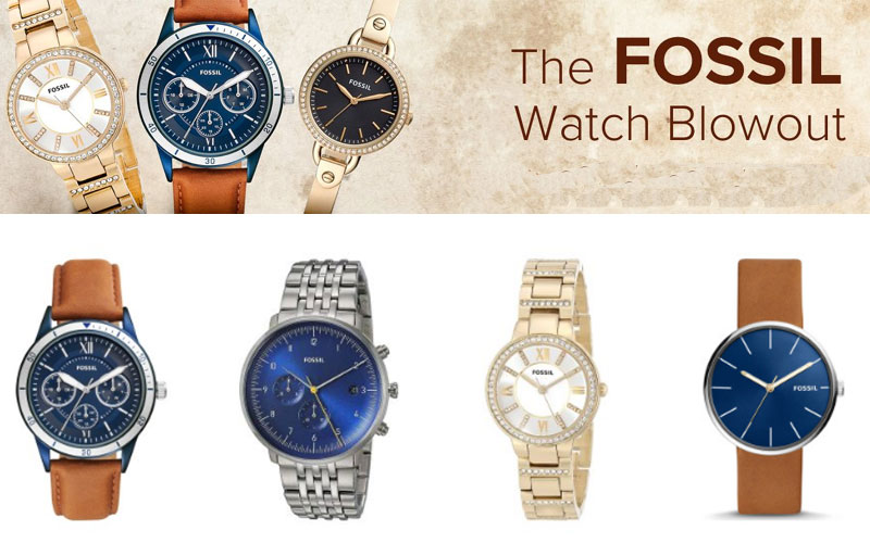 Fossil Watches Blowout! Up to 70% Off on New Arrival