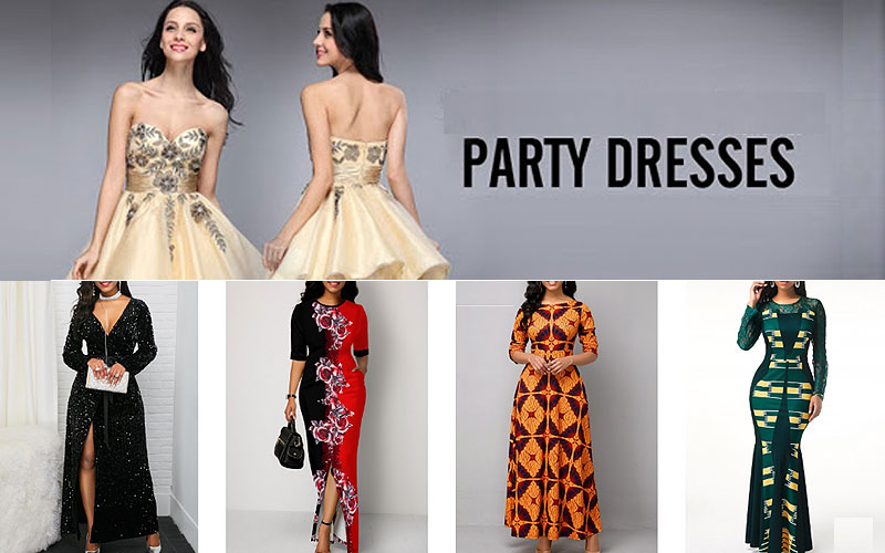 Up to 65% Off on Women's Party Dresses