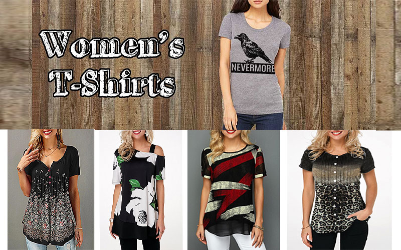 Up to 50% Off on Trendy T-Shirts for Women