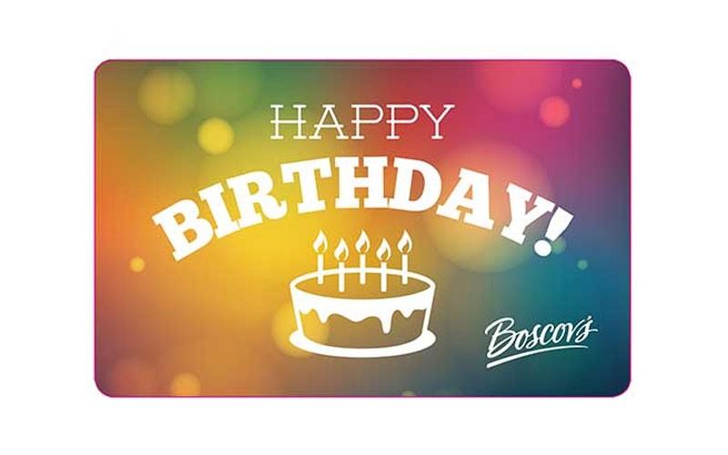 Boscov S Happy Birthday Cake Gift Card Boscovs Price 10 250
