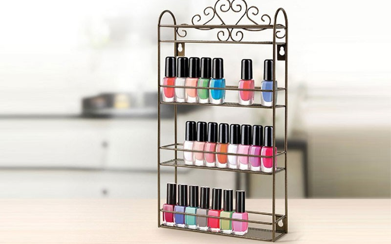 64% Off on Wall-Mounted or Standing Nail Polish Organizer