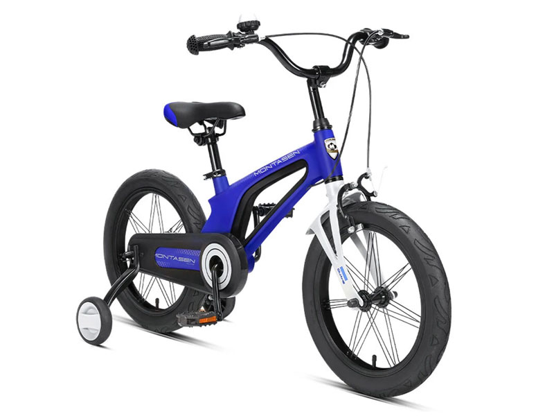 Montasen Xiaomi Kid's Bike with Side Wheels Adjustable Height Child's Bicycles