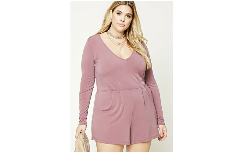 eca52b73a41 20% Off on Plus Size V-Neck Romper   Forever 21 - Price   19.92 ...