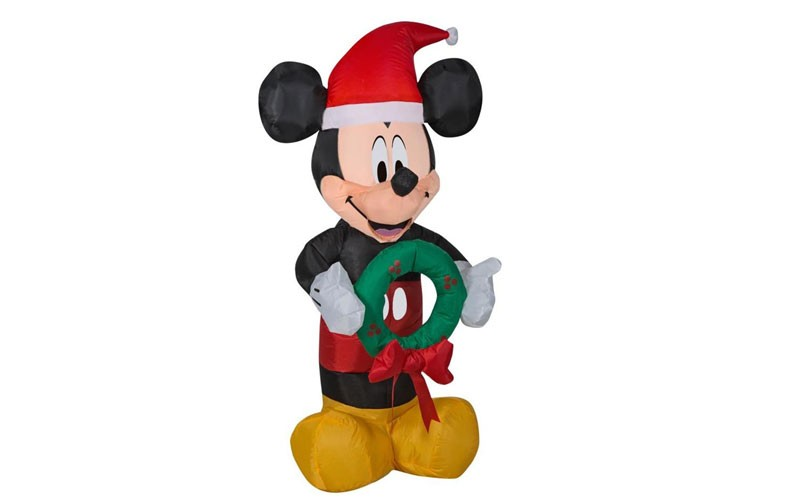 Lowes Christmas Inflatables.Disney 3 51 Ft Lighted Mickey Mouse Christmas Inflatable