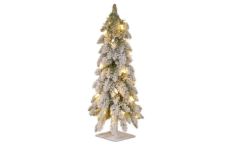 National Tree Company 2-ft Pre-lit Slim Flocked Artificial