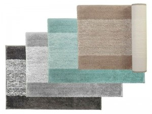 Bibb Home 2 Pack Oxford Ombre Micro Shag Bath Rug