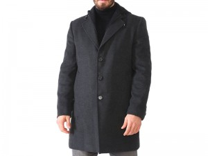 Men's Dewberry Detroit Overcoat Anthracite