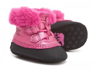 Sorel Metallic Caribootie Boots Leather For Infant Girls